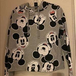 Mickey Mouse Crop Hoodie